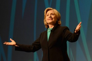 Hillary at conference